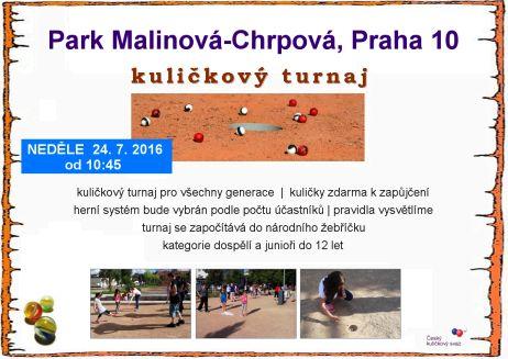 Kuličkový turnaj Open Záběhlice, Park Malinová-Chrpová (24.07.2016)